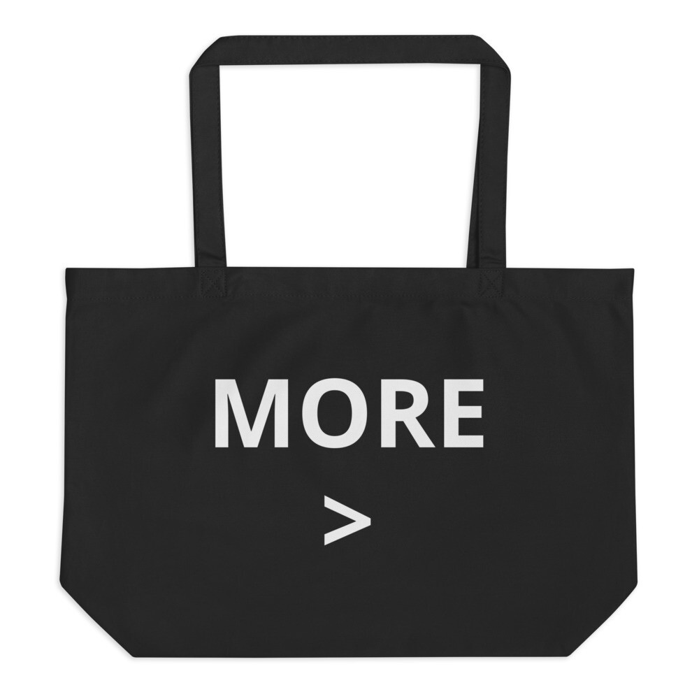 MORE > Large Organic Tote Bag