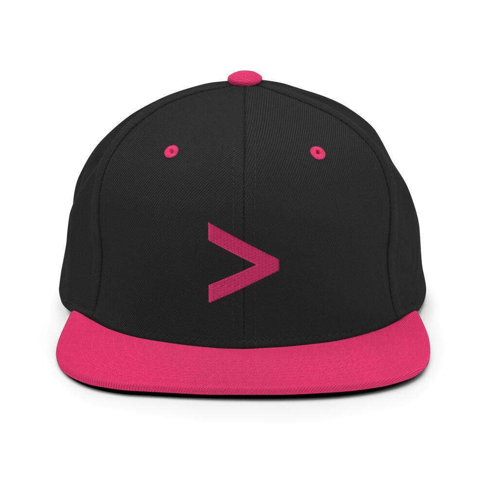 MORE LOGO Snapback Hat (Hot Pink)