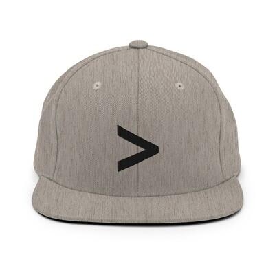 MORE LOGO Snapback Hat (Heather Great/Black)