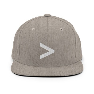 MORE LOGO Snapback Hat (Heather Grey/White)