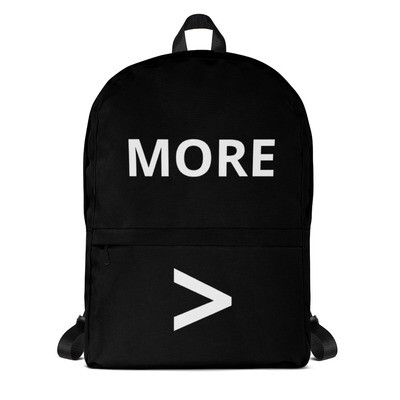 MORE > Backpack
