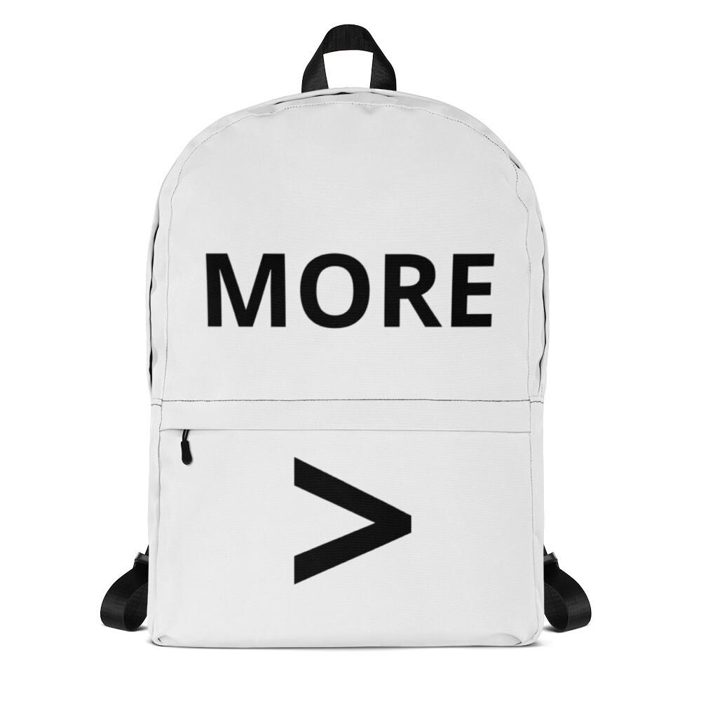 MORE > Backpack (White)