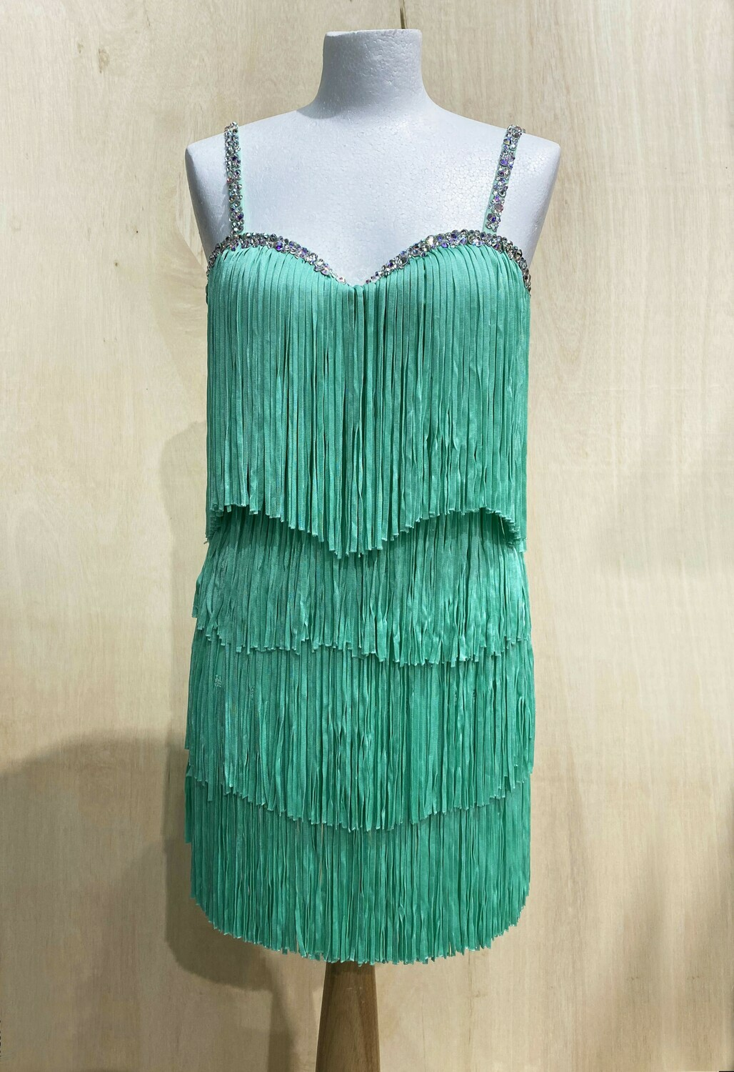 Strictly Come Dancing Dress - Katya Green Fringe