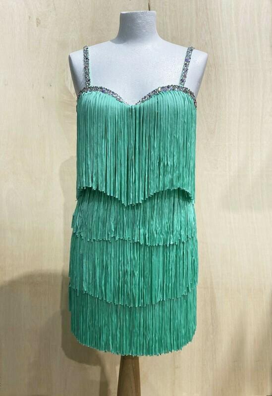 Strictly Come Dancing Dress - Katya Green Fringe