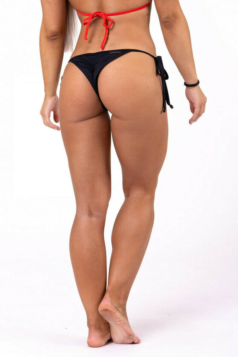 Плавки 	Scrunch butt tie side bikini 673 Черные