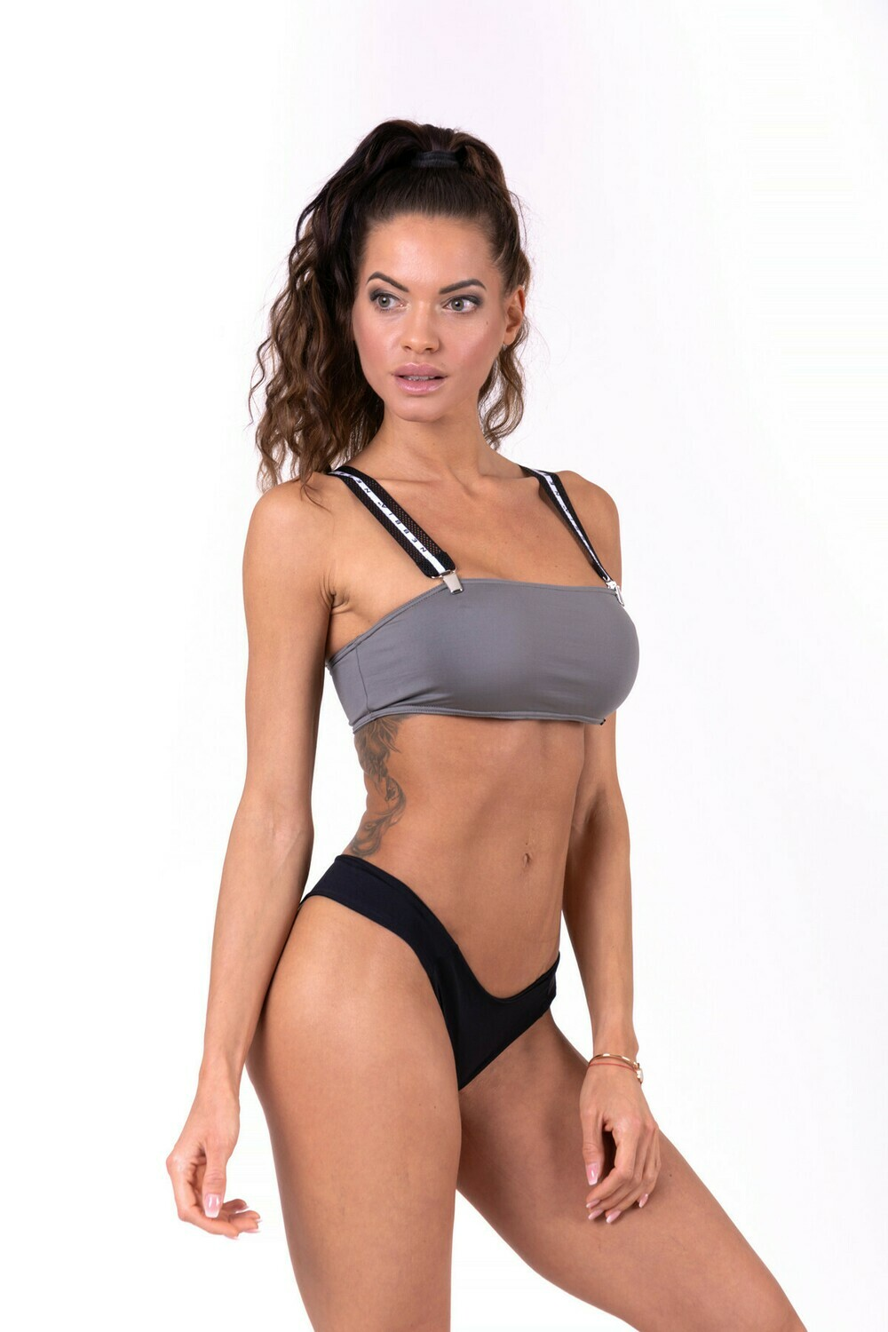 Топ Bikini top bandeau with removable suspenders 672