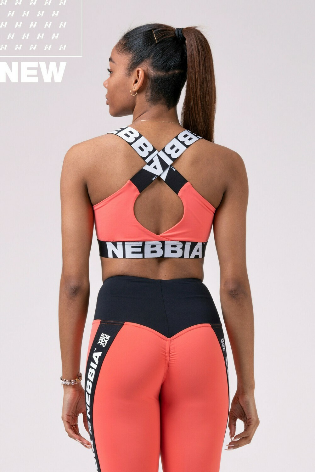 Топ Power Your Hero iconic sports bra 535 Персиковый