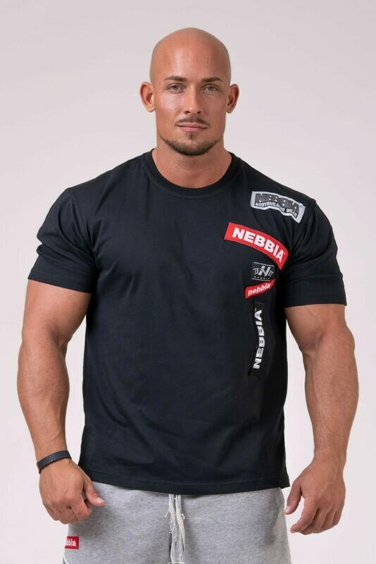 Футболка NEBBIA Labels T-shirt 171 Черная