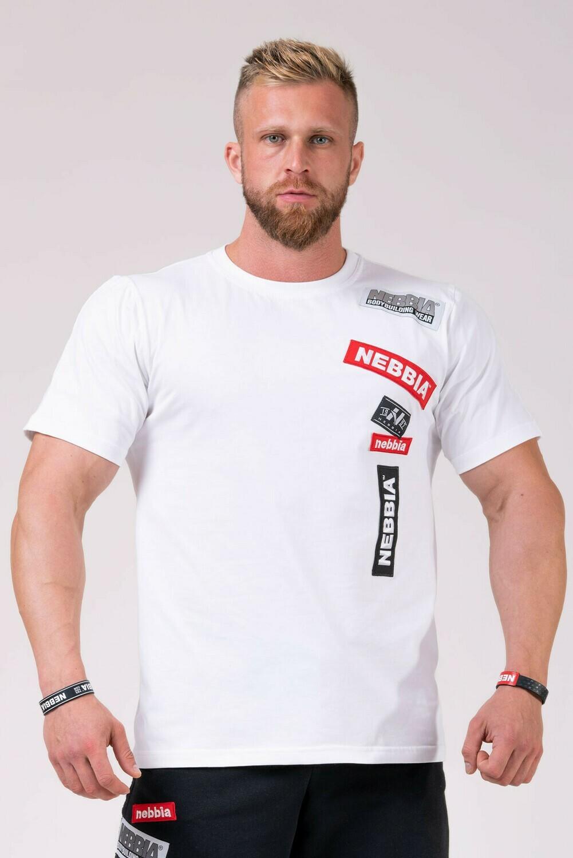 Футболка NEBBIA Labels T-shirt 171 Белая