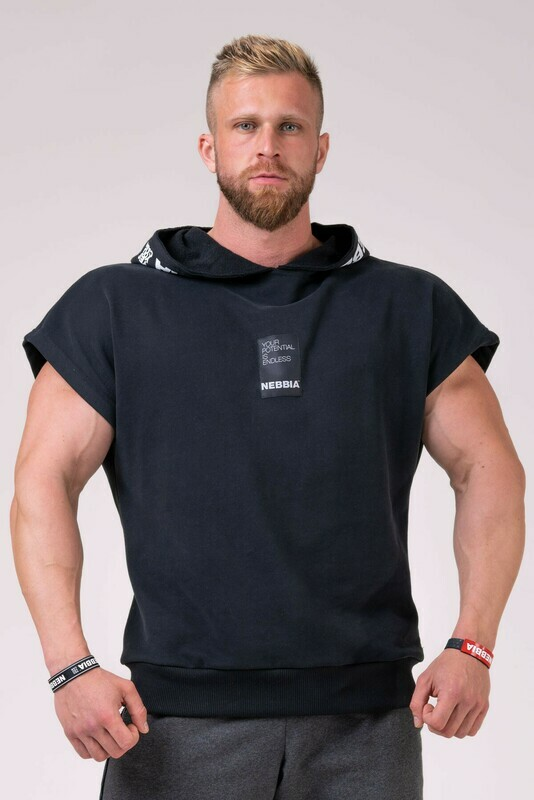 Худи Reg top with hoodie 175 Черная