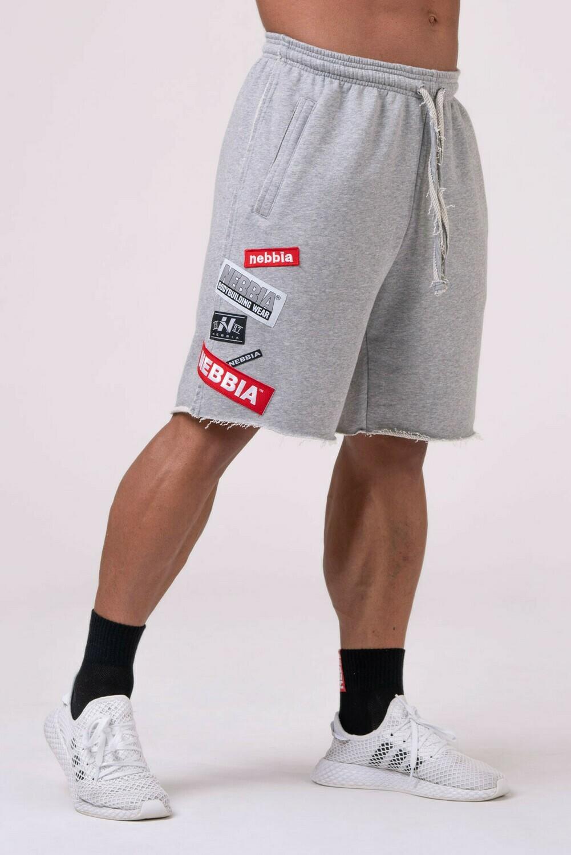 Шорты NEBBIA Labels Shorts 178 Серые