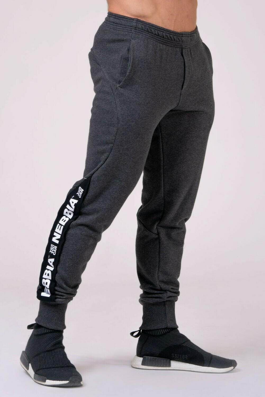 Спортивные брюки Joggers with lampas 185 Серые