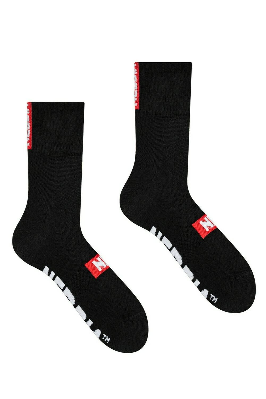 """Носки NEBBIA """"EXTRA MILE"""" crew socks 103 Черные"""