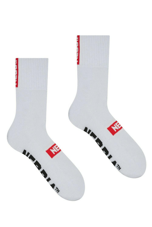 """Носки NEBBIA """"EXTRA MILE"""" crew socks 103 Белые"""