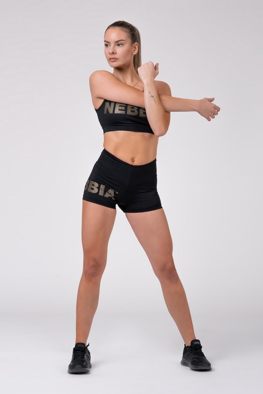 Мини шорты Gold NEBBIA print shorts 828
