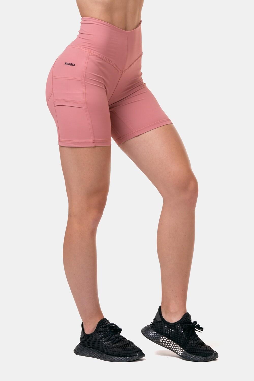 Велосипедки High-waist Fit & Smart biker shorts 575 Розовые