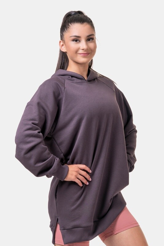 Толстовка женская Everyday HERO Long Sweatshirt with a hoodie 580 Каштановая