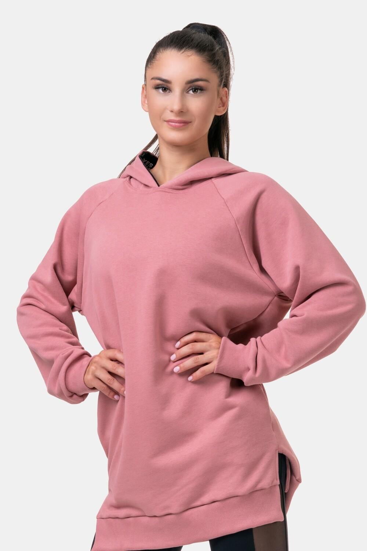 Толстовка женская Everyday HERO Long Sweatshirt with a hoodie 580 Розовая