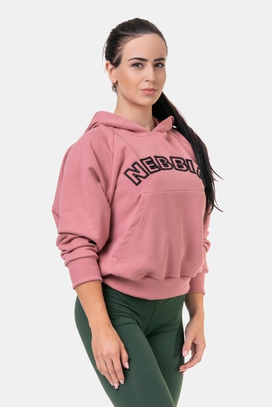 Толстовка женская Iconic HERO Long Sweatshirt with a hoodie 581 Розовая