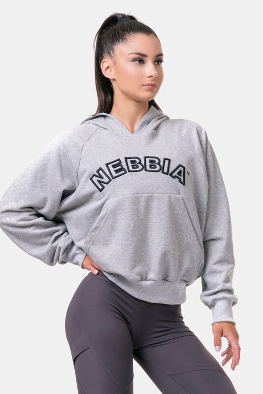Толстовка женская Iconic HERO Long Sweatshirt with a hoodie 581 Серая