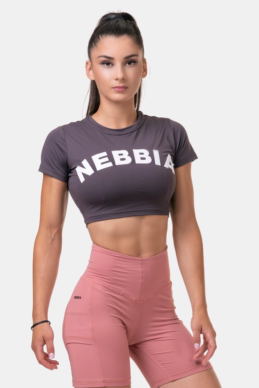 Топ женский Short Sleeve Sporty Crop Top 584 Каштановый