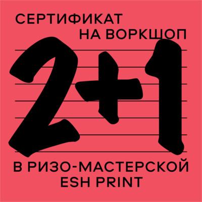 Сертификат на ризо-воркшоп «2+1» _ 20 февраля