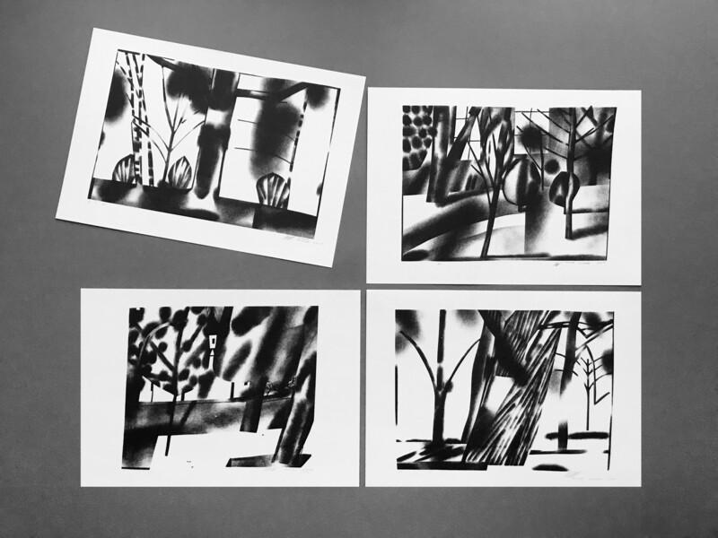 Серия принтов и открыток «Парк»