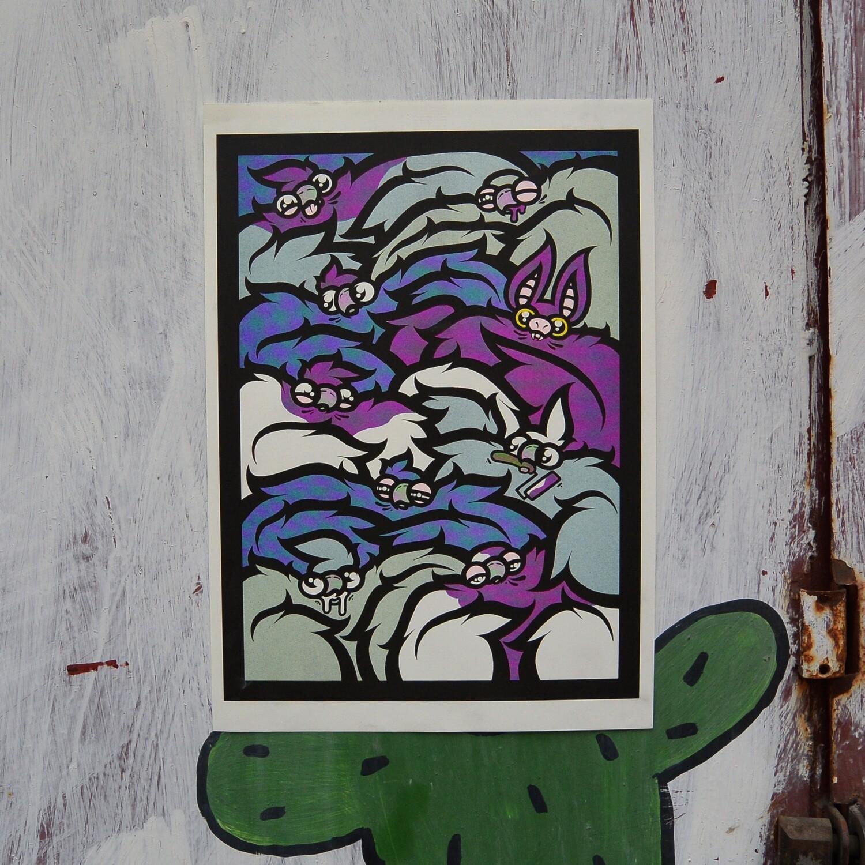 """Постер """"Pigeons&Bats"""""""