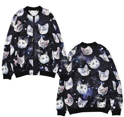 Blouson femme (chats dans l'espace) / Women Jacket (cats in space)