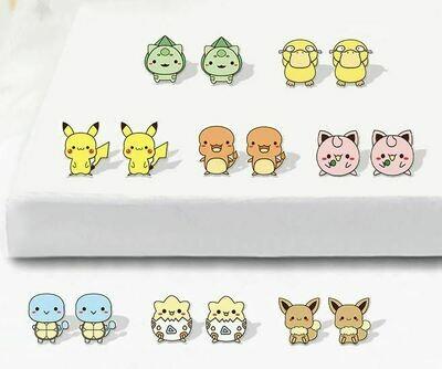 Boucles d'oreilles Pokemon / Pokemon earrings