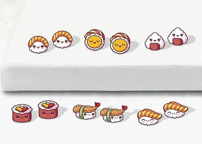 Boucles d'oreilles kawaii et geek / Kawaii and geek Earrings