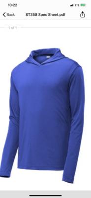 Men's Light Weight Tri Blend Hooded Pullover