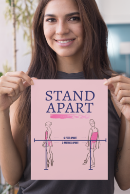COVID-19: Poster - 02 Dance: Stand Apart