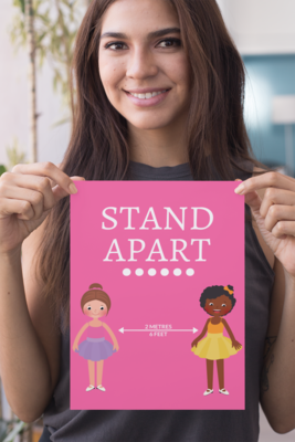 COVID-19: Poster - 03 Dance: Stand Apart