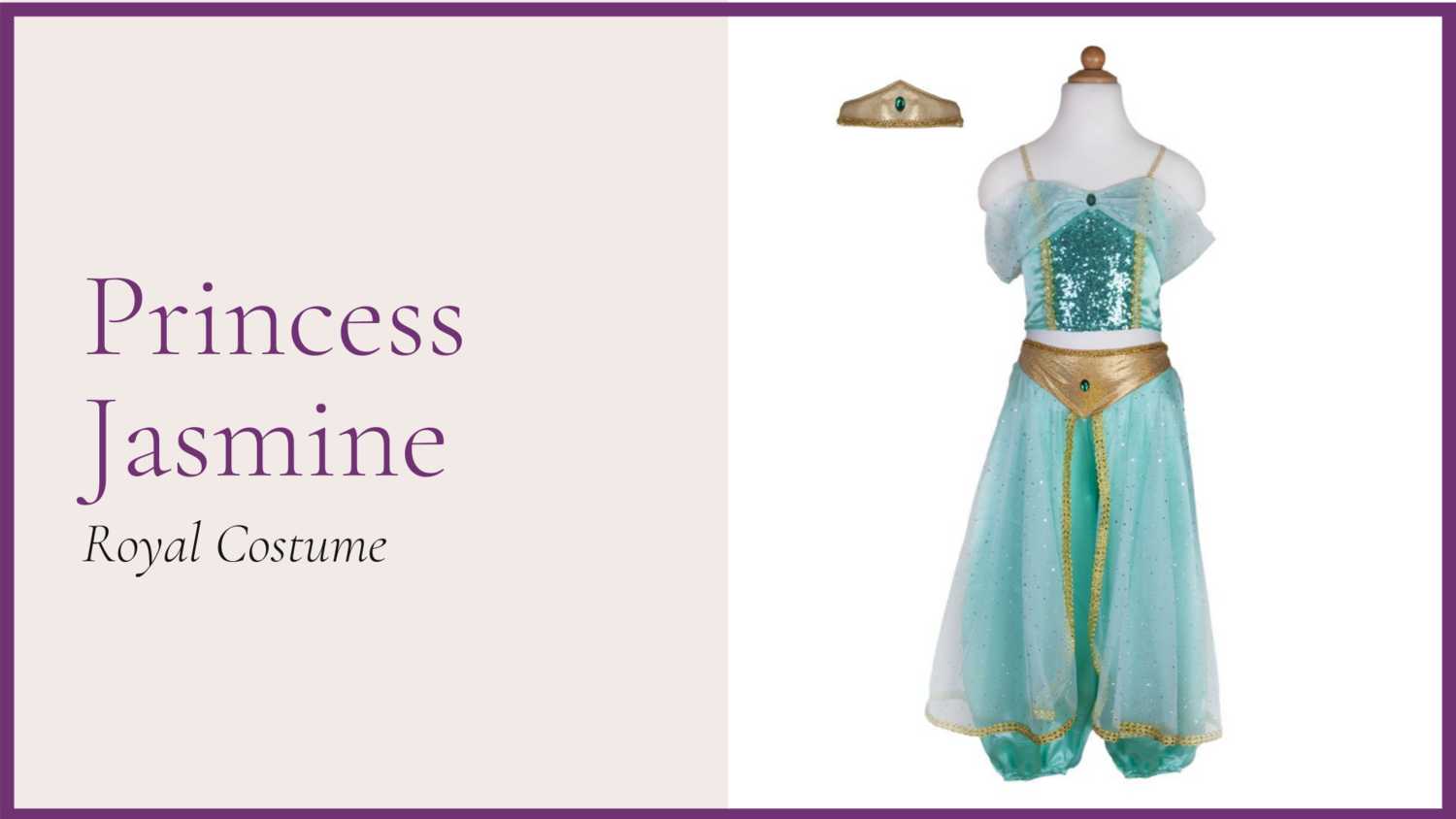 STORYBOOK: The Princess Jasmine - Royal Costume