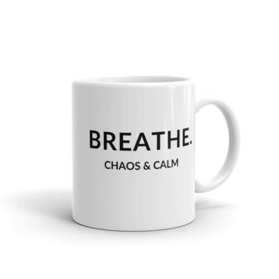 BREATHE.  Glossy Mug