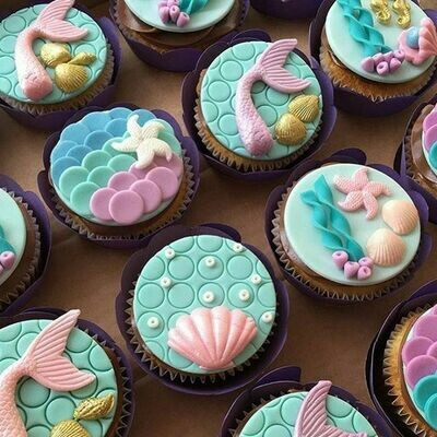 Mermaid Cupcakes - Workshop for Adults - Monday 31 May 2021 - 10am to 2pm