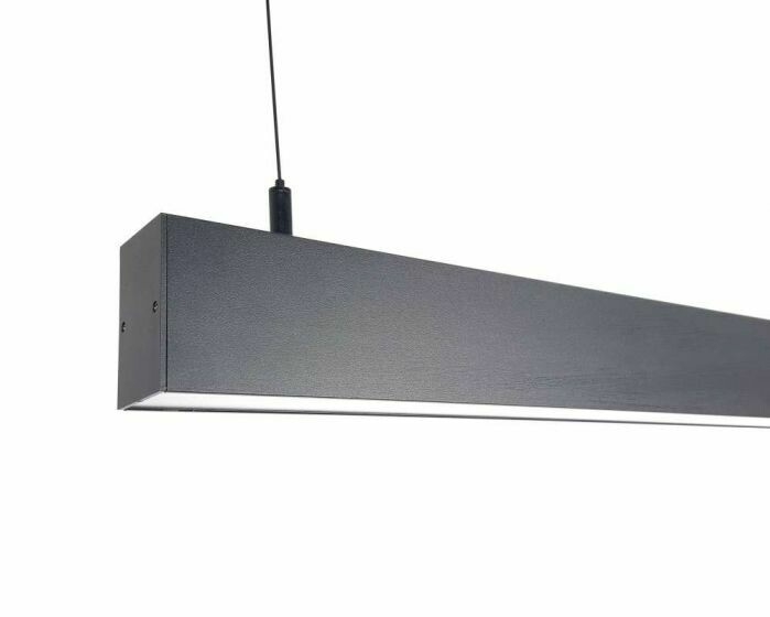 Slender 24watt 1200mm Black Pendant 4000K