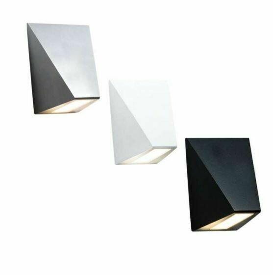 Edge 10w LED Wall Light Alum 3000K