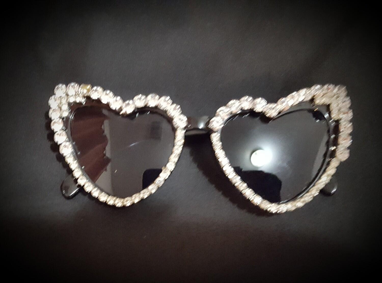 Heart Cat eye Diamond Sunglasses