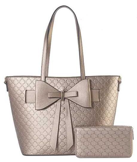 Bronze Bow Handbag 2pc