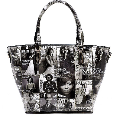 Ms. Obama Magazine Handbag  (Black and White)
