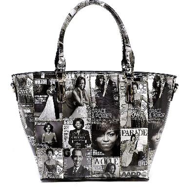 Ms. Obama Magazine Handbag  (Black and White)