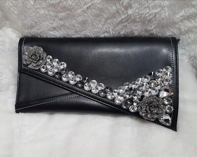 All Black Diamond Clutch Envelope Pursenality