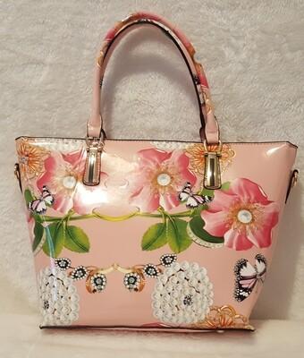 Pink and Pearls  (w/makeup bag)