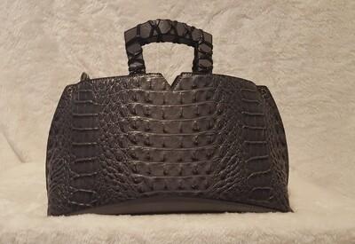 Designer Inspired Grey Croc Pursenality