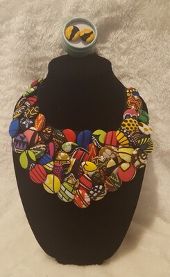 Ankara African Multistrand Necklace