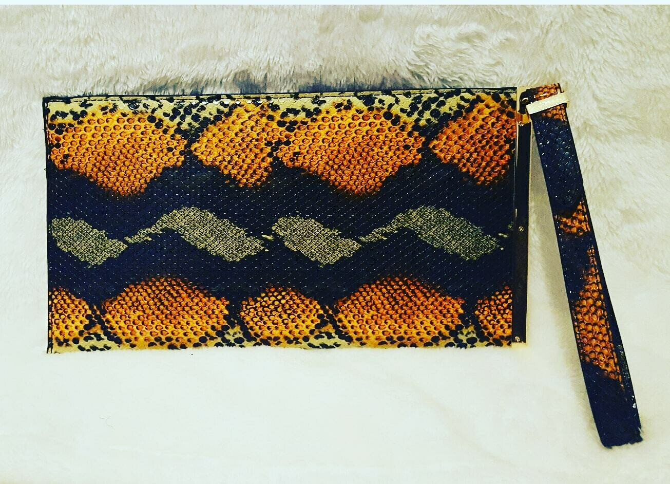Snakeskin Designer Inspired Clutch