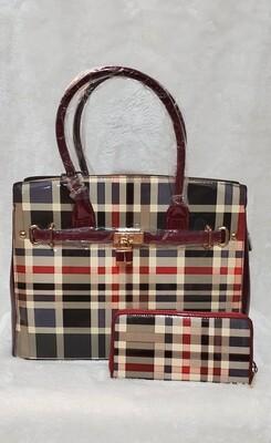 Designer's Inspired Checkered Pursenality Set