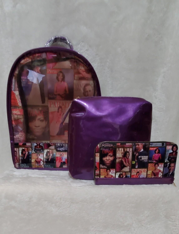 Royalty See Thru Obama Backpack Set